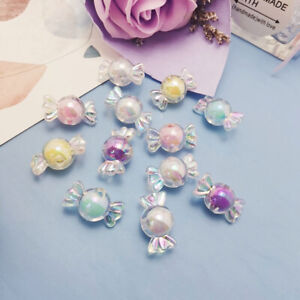 10Pc Resin Glitter Candy Charms Pendants For Decoration Necklace Earring Jewelry