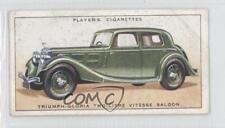 1936 Player's Motor Cars Series 1 46 Triumph-Gloria Two Litre Vitesse Saloon a8x