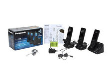 NEW Panasonic KX-TGH263B 3-Handset Link2Cell Bluetooth Enabled Phone System