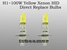 H1 100W Xenon HID Yellow Replace Osram Halogen Philip Headlight Light Bulbs 133G