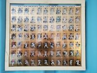 RARE 1996 Leaf Steel Gold Series Uncut Full Sheet of 77 Cards for Baseball