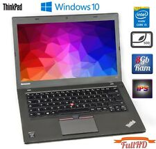 "Lenovo ThinkPad T450 Core i5 5300u 2.3Ghz 8GB RAM 240GB SSD 14"" FullHD WebCam"