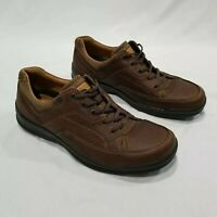 ECCO Men's Brown Casual Comfort Oxford Walking Shoes Sz EUR 44 US 10 - 10.5