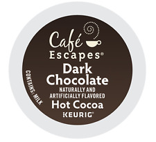Cafe Escapes Dark Chocolate Hot Cocoa Keurig K-Cups 24 Count - FREE SHIPPING