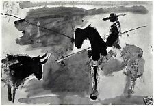 PICASSO VINTAGE PRINT 1960 w/COA Exclusive Gift of UNIQUE PABLO PICASSO RARE ART