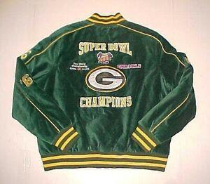 Green Bay Packers Champions '66 '67 NFL Super Bowl XXXI Women Full Zip Jacket XL