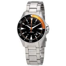 New Hamilton Khaki Navy Scuba Black Dial Men's Watch H8230513