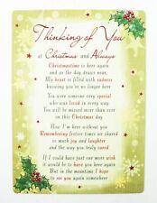 Memorial Christmas Card Graveside Grave Friend Family Poem Verse Bereavement
