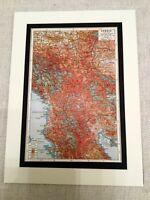 WW1 Mappa Stampa Serbia 1914 - 1914 The Great Guerra Europa