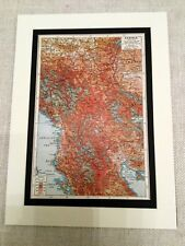 WW1 Map Print Serbia 1914 - 1914 The Great War Europe