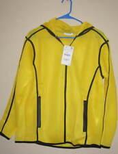 Zara Sport Collection Lagenlook Hooded Yellow/black binding Zipper front/pocket