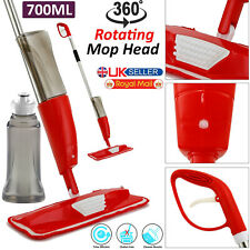 SprayWater Mop 700ML Wet Hard Wood Floor Tiles Cleaning Microfibre Pad Cleaner