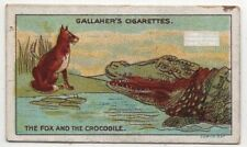 The Fox And The Crocodile Aesop's Fable Moral Story 1920s Ad Trade Card