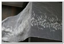 1.4 mx22.5cm Dentelle tulle brodé au mètre Rose blanc Ref. 1635