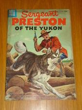 SERGEANT PRESTON OF THE YUKON #18 VG (4.0) 1956 DELL WESTERN COMIC B