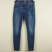 7 For All Mankind Gwenevere Mid Rise Skinny Ankle Jeans Womens Sz 24