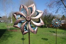 Arrow Brown And Blue Windmill Spinner Garden Stake