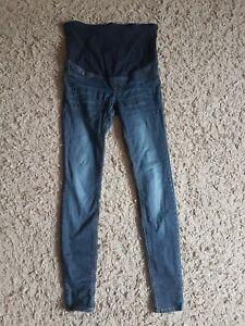 Maternity H&M blue Jeans Eur 36 Uk 10 Over Bump Super Skinny