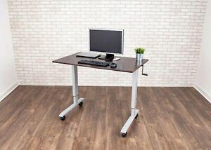 "48"" High Speed Crank Adjustable Stand Up Desk"