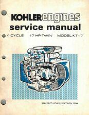 KOHLER  17 HP KT17  ENGINES  SERVICE MANUAL