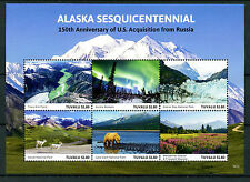 Tuvalu 2016 MNH Alaska Sesquicentennial US Acquisition 6v M/S Mountains Stamps
