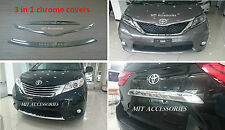 TOYOTA SIENNA 2011-2017 Enginee Hood+front lower grill+tail molding chrome cover