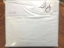 Sky Bedding Full Fitted Sheet - 100% Cotton Sateen - Solid White