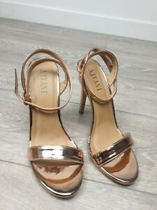 WOMENS LADIES HIGH HEEL ANKLE STRAP BARELY THERE STRAPPY SANDALS SHOES SIZE UK 6