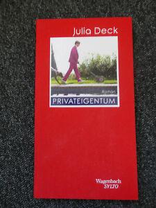 Julia Deck Privateigentum gebundene Ausgabe