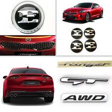 "[In Stock]OEM Front Rear GT AWD Emblem + 18"" Wheel Cap Set for Kia Stinger 17-18"