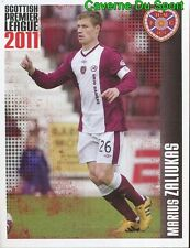 191 zaliukas heart of midtothian sticker scottish premier league 2011 panini