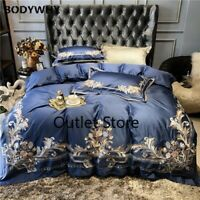Luxury Royal Embroidery Egyptian Cotton Palace Bedding Set Cover Bed sheet 4pcs