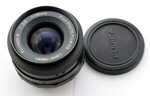 Fujica Fujinon W 35mm f/3.5 Wide Angle Prime Lens + Caps     #AS372-4