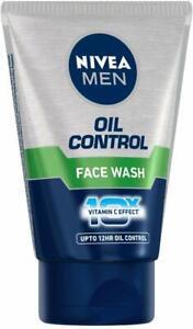 NIVEA MEN Face Wash, Oil Control, 10x Vitamin C, 100ml Free Shipping Worldwide