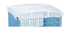 IRIS 24'' Exercise 4-Panel Pet Playpen with Door White Mesh Roof