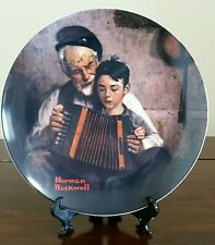 "Norman Rockwell's ""The Music Maker"" Plate by The Edwin M. Knowles China Co."