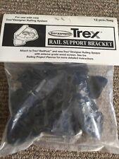 TREX DECKING DESIGNER SERIES RAIL SUPPORT BRACKET WITH SCREWS 12pcs