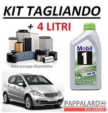KIT FILTRI TAGLIANDO + OLIO MOBIL MERCEDES CLASSE A W169 160 180 200 CDI 04->12