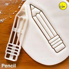Pencil cookie cutter - Back to School party writing supplies kids teachers day