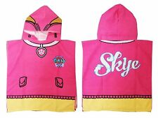 Children Kids Girls PINK Paw Patrol Skye Pups Hooded Beach Pool Poncho Towel