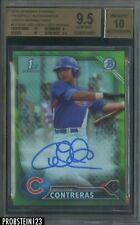 2016 Bowman Chrome Green Refractor Willson Contreras RC Rookie AUTO /99 BGS 9.5