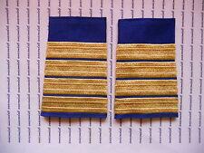 Schulterklappen Rangabzeichen Marine Kapitän gold blau gewebt ##F1080B