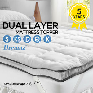 DreamZ Pillowtop Mattress Topper Luxury Bedding Mat Pad Protector Cover All Size