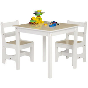 Childrens Wooden Table and Chair Set For Kids Study Writing Reading Playing UK