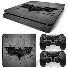 PS4  SLIM SKIN Batman  Logo  Skin Wrap Decal Sticker Console + Controller