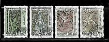 HICK GIRL- BEAUTIFUL USED LAOS STAMPS   SC#141-44   1967 ISSUES       E1036