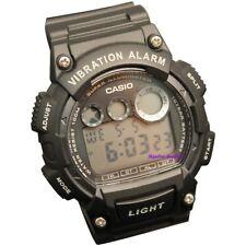 Casio Men's Super Illuminator Black Vibrating Alarm Day Date Watch W735H-1AVCF