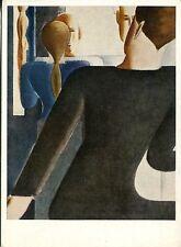 Arte antiguo tarjeta postal-Oskar Schlemmer-descenso transitorio
