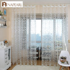NAPEARL 1 Panel American Style Curtains Jacquard Window Sheer Tulle for Bedroom