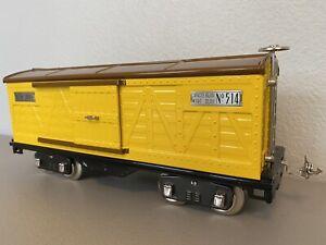 MTH 10-1085 :: Boxcar No. 500 Yellow & Brown w/Nickel Trim - Std. Gauge
